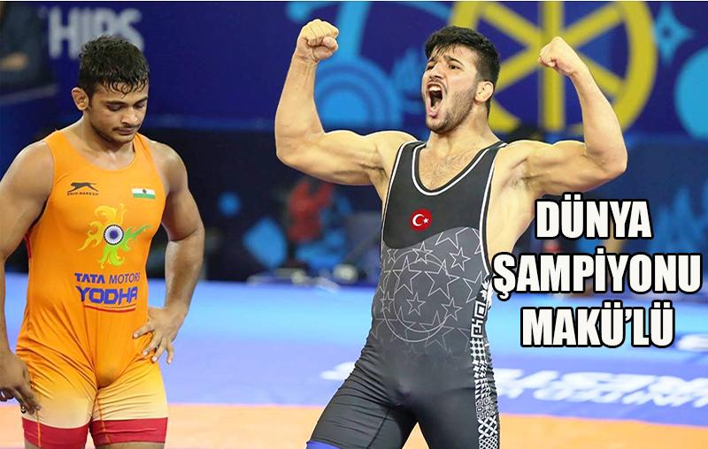 MAKÜ'lü öğrenci dünya şampiyonu oldu