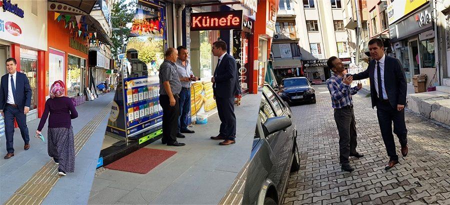 Başkan Ercengiz, Belediye'ye yürüyerek gitti