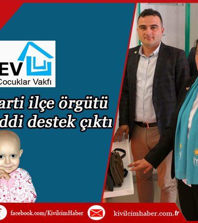İYİ Parti Bucak Teşkilatı'ndan LÖSEV'e Destek