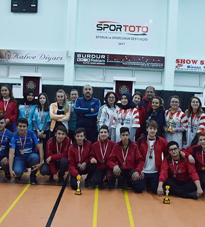 Okul sporları Gençler Dart İl Birinciliği Yarışması sona erdi