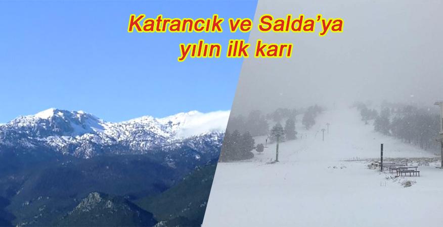 Bu yıl kar yok diyen yalancı yorumculara inat ilk kar Katrancık ve Salda'ya düştü