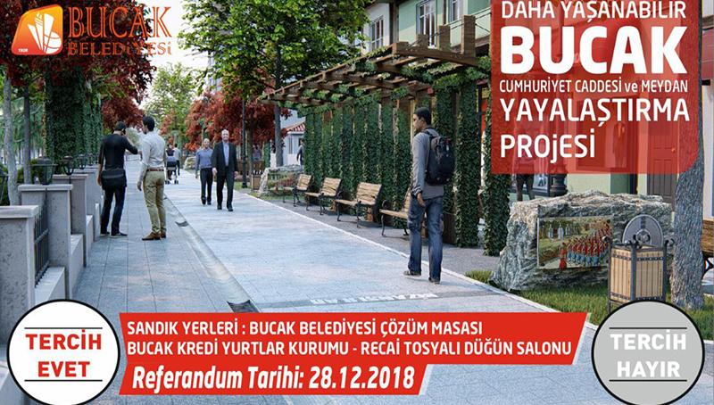 Bucak'ta referandumla marka cadde yaratma projesi