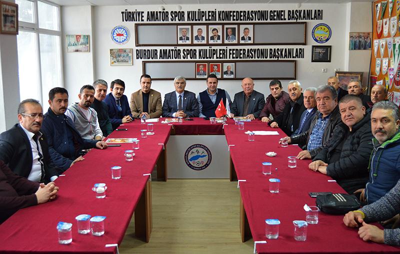 AK Parti'den Burdur Amatör Spor Kulüpleri Federasyonu'na ziyaret