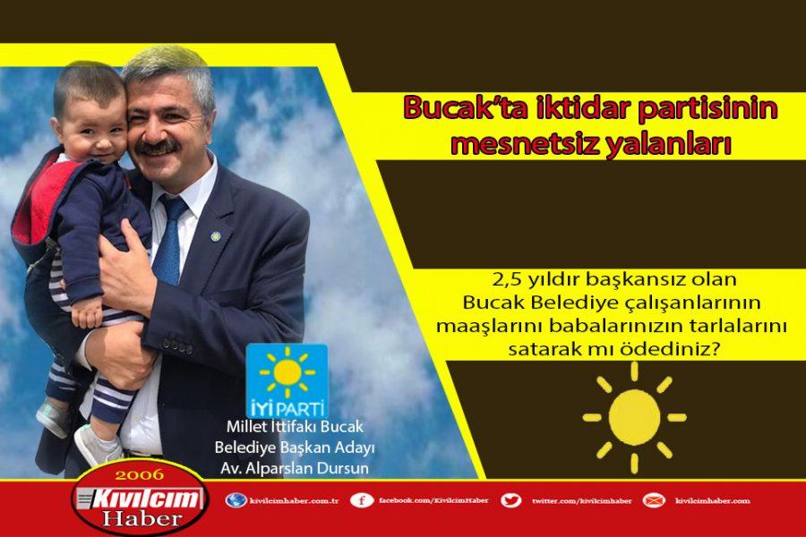 Bucak'ta iktidar partisinin mesnetsiz yalanları