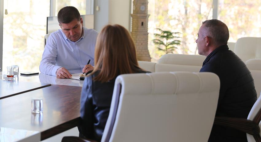 Başkan Ercengiz'e yoğun ilgi sürüyor