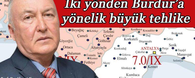 Deprem açıklaması; Büyük tehlike; 25 Riskli kent, içinde Burdur da var