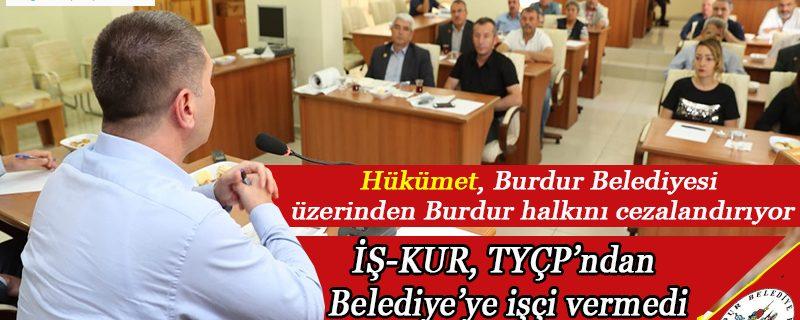 Hükümet, Burdur Belediyesi üzerinden Burdur halkını cezalandırıyor