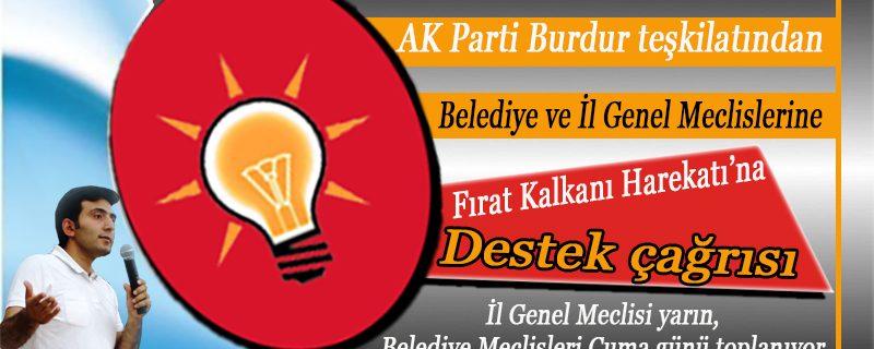 Burdur AK Parti teşkilatından, Burdur Meclislerine Barış Pınarı Harekâtı'na destek çağrısı