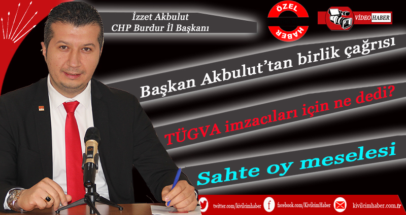 Başkan Akbulut'tan birlik çağrısı