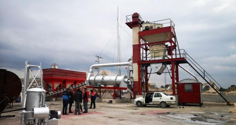 Tefenni sıcak asfalt tesisi faaliyete hazır