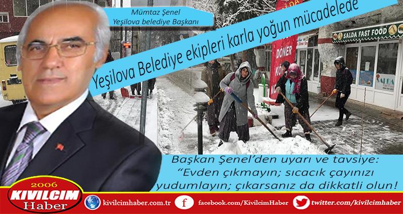 Yeşilova Belediye ekiplerinden kışla mücadele