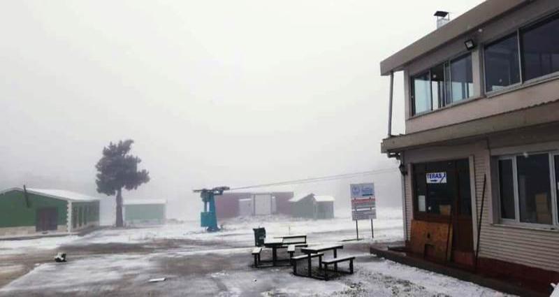 Salda Kayak Merkezi'ne yılın ilk karı