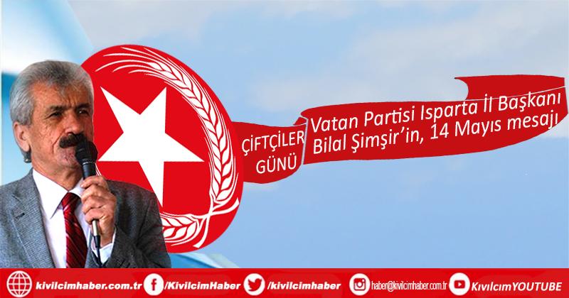 """Bilal Şimşir: """"Çiftçiler Günü kutlu olsun!"""""""
