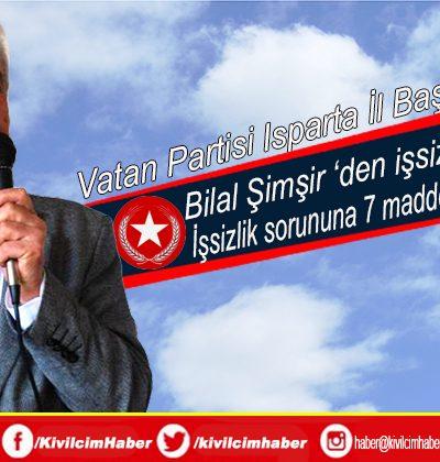 """Başkan Şimşir'den """"işsizlik"""" açıklaması"""