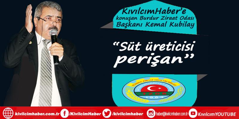 """Ziraat Odası Başkanı Kubilay: """"Süt üreticisi perişan"""""""