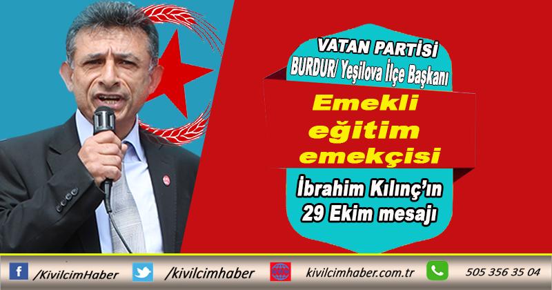 Başkan Kılınç'ın 29 Ekim mesajı