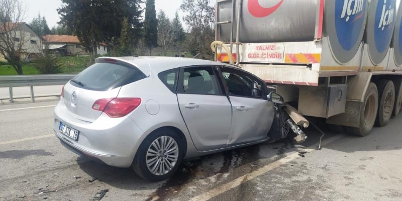 Bucak/Seydiköy'de trafik kazası; 1 yaralı