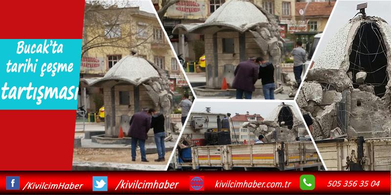 Bucak'ta tarihi çeşme tartışması