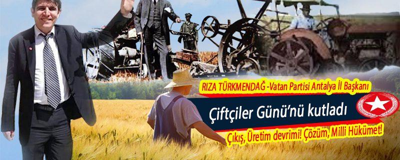 Başkan Türkmendağ, çiftçilerimizin gününü kutladı