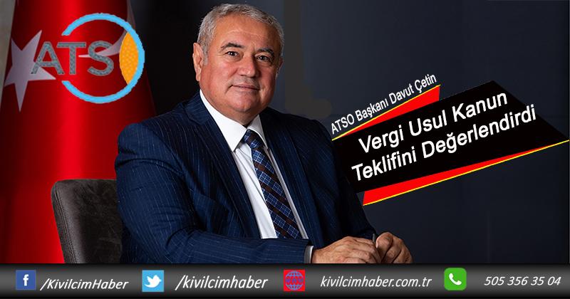 Başkan Çetin, Vergi Usul Kanun Teklifini Değerlendirdi
