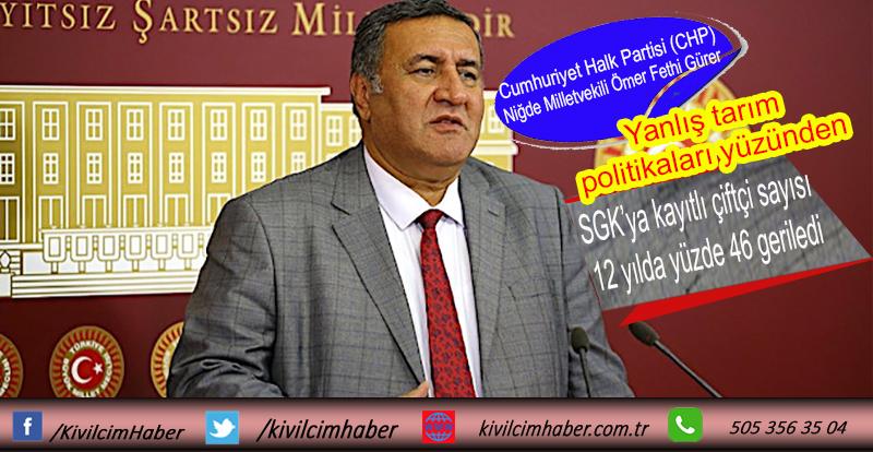 SGK'ya kayıtlı çiftçi sayısı 12 yılda yüzde 46 geriledi